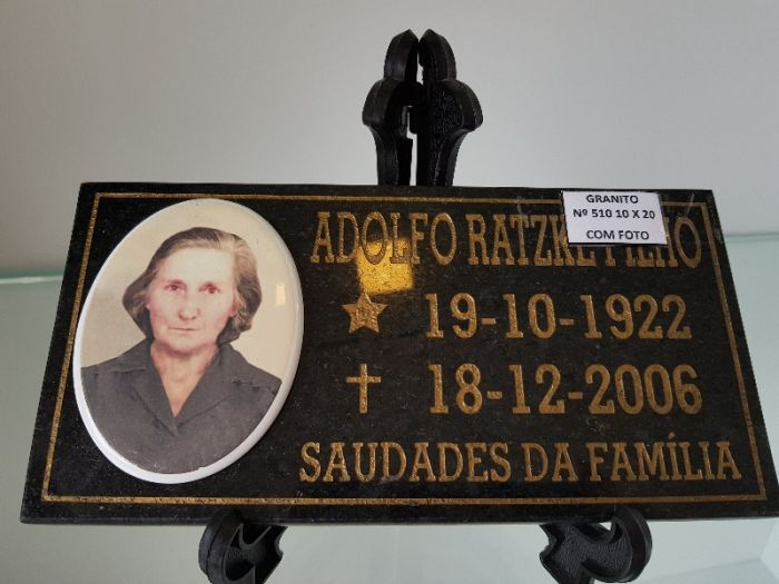 PLACAS TÚMULOS GRANITO E VIDRO - 10X20